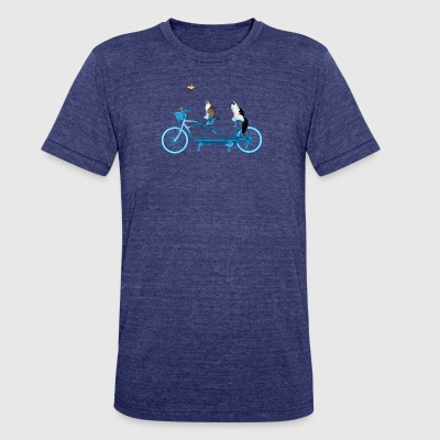 Cats On a Bike - Unisex Tri-Blend T-Shirt by American Apparel