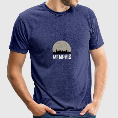 Memphis Full Moon Skyline - Unisex Tri-Blend T-Shirt