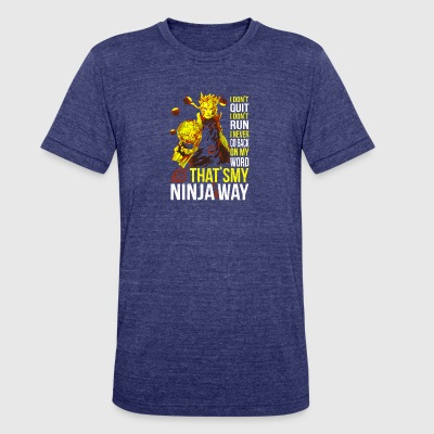 naruto - my ninja way t shirt - Unisex Tri-Blend T-Shirt by American Apparel