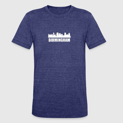 Birmingham Skyline - Unisex Tri-Blend T-Shirt by American Apparel