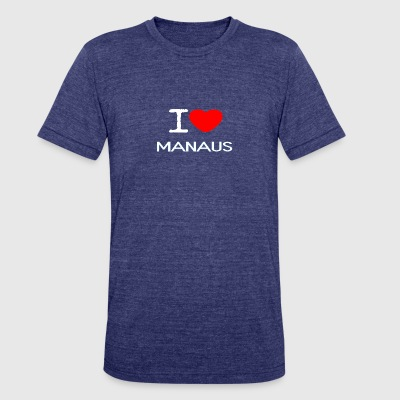 I LOVE MANAUS - Unisex Tri-Blend T-Shirt by American Apparel