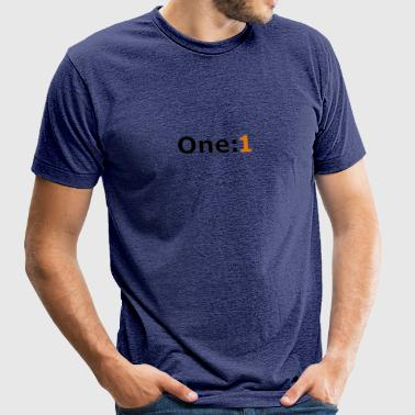 One:1 logo - Unisex Tri-Blend T-Shirt by American Apparel