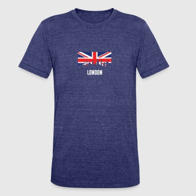 British Flag London Skyline - Unisex Tri-Blend T-Shirt by American Apparel