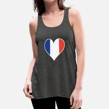 French Flag French Flag Heart - Women's Flowy Tank Top by Bella