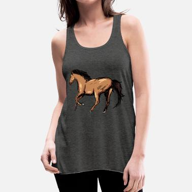Gallop Dream Horses Gift Idea Gallop - Women's Flowy Tank Top by Bella