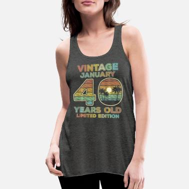 Teerich 40th Birthday Gift Vintage January 1981 - Women's Flowy Tank Top
