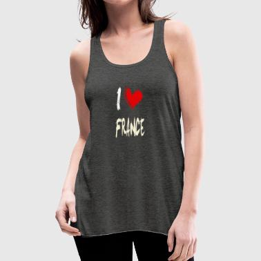 I love FRANCE - Women's Flowy Tank Top by Bella