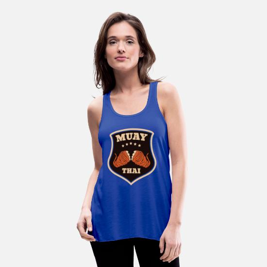 Muay Thai Tank Tops - Muay Thai New 10 01 - Women's Flowy Tank Top royal blue