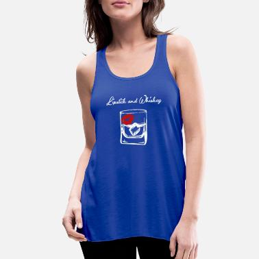 LIPSTICK AND WHISKEY - Women's Flowy Tank Top