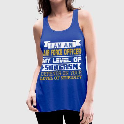 Im Air Force Officer Level Sarcasm Level Stupidity - Women's Flowy Tank Top by Bella