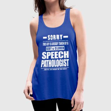 Girl Sexy And Clever Speech Pathologist Shirt - Women's Flowy Tank Top by Bella