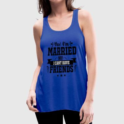married - Women's Flowy Tank Top by Bella