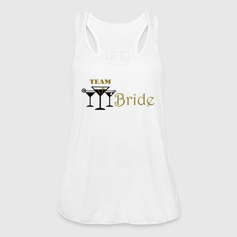 team bride cocktails with ring - Women's Flowy Tank Top by Bella