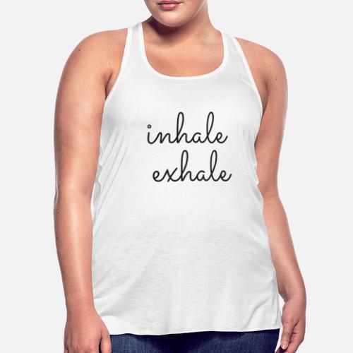 1caae83a8c993e Inhale Exhale Tank Top. Yoga Tank. Workout Tank. Women s Flowy Tank ...