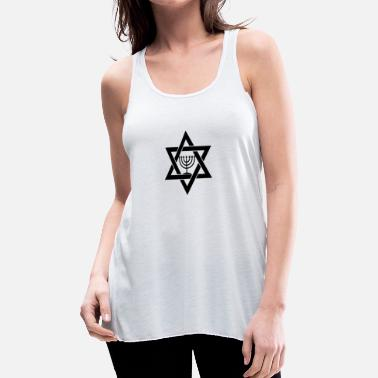 Menorah Jewish Menorah Relgion Star of David - Women's Flowy Tank Top by Bella