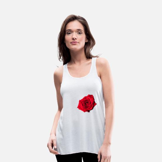 Flowers Tank Tops - rose - Women's Flowy Tank Top white
