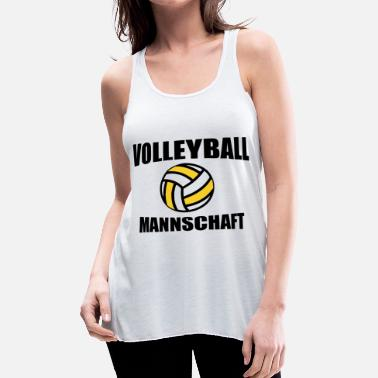 Volleyball Team Volleyball Mannschaft Team - Women's Flowy Tank Top by Bella