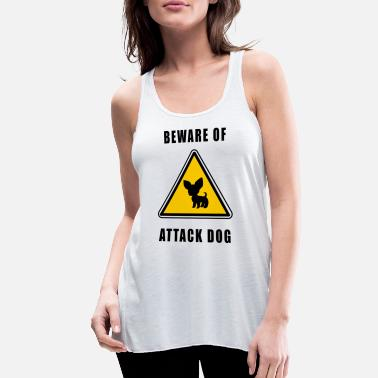 Attack Dog beware of attack dog - Women's Flowy Tank Top