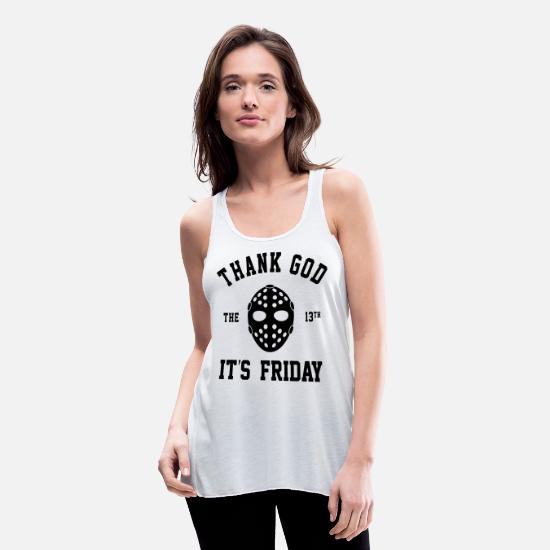 Glow-in-the-dark Tank Tops - FRIDAY THE 13TH - Women's Flowy Tank Top white