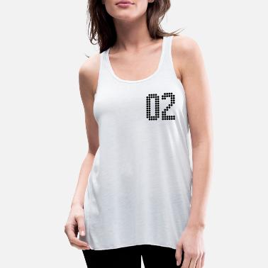 Jersey Number 02, Numbers, Football Numbers, Jersey Numbers - Women's Flowy Tank Top