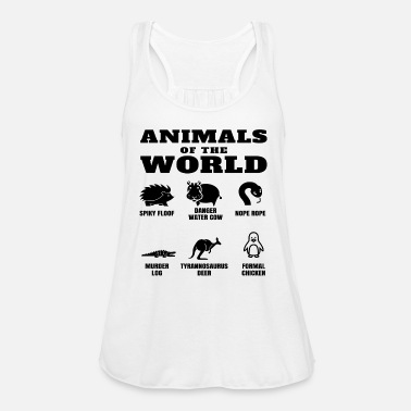 Funny Names Animals Of The World Internet Meme Women's Curvy T-Shirt - white