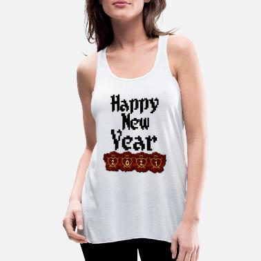 New Year New year happy new year - Women's Flowy Tank Top