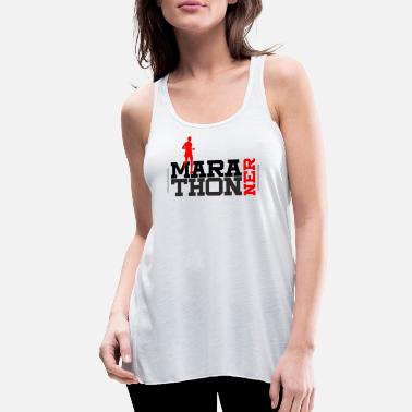 First Marathon Long-distance running runner Sports Gift - Women's Flowy Tank Top
