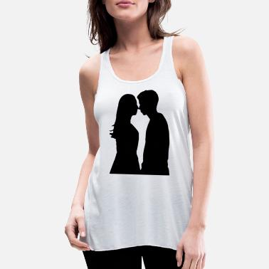 Girlfriend Love Boyfriend Relationships Girlfriend And Boyfriend Silhouette - Women's Flowy Tank Top