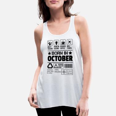 Born In October Born In October - Women's Flowy Tank Top