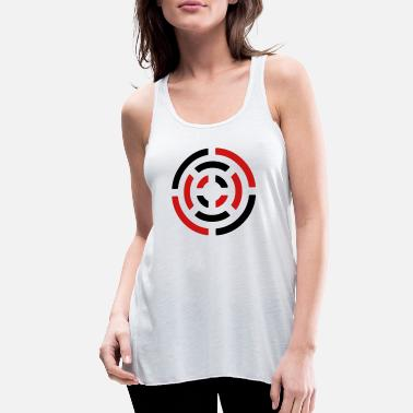 Circle circle sign - Women's Flowy Tank Top