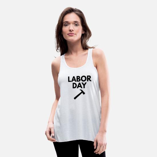 Labor Day Tank Tops - labor day - Women's Flowy Tank Top white