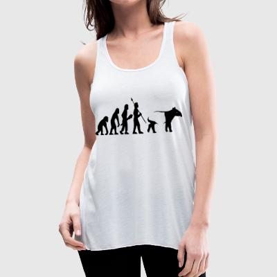 evolution primate human asian tapir funny gift - Women's Flowy Tank Top by Bella