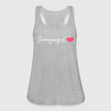 Surrogacy is LOVE Flowy Tank - Women's Flowy Tank Top by Bella