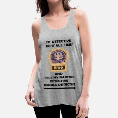 Brooklyn I'm Detective Right All Time - Women's Flowy Tank Top by Bella