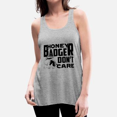 Badger Badger Shirt - Badger Don't Care T shirt - Women's Flowy Tank Top by Bella