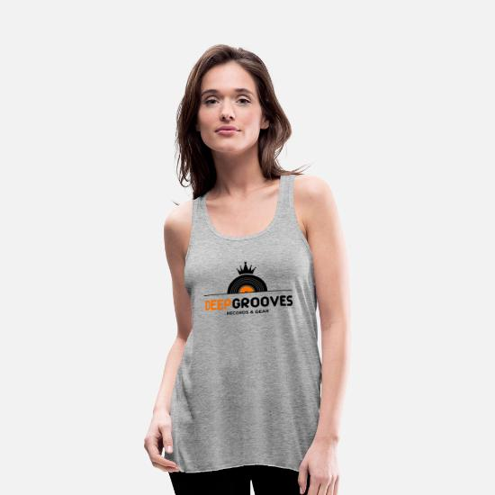 Music Tank Tops - music - Women's Flowy Tank Top heather gray