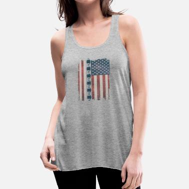 American Football Flag with Footballs - Women's Flowy Tank Top by Bella
