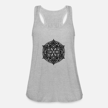 19fbdd8bf06b Sacred Geometry Flower of Life Mandala Star Women's Polo Shirt ...