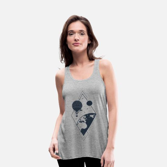 Travel Tank Tops - Earth view - Wanderlust collection - Women's Flowy Tank Top heather gray