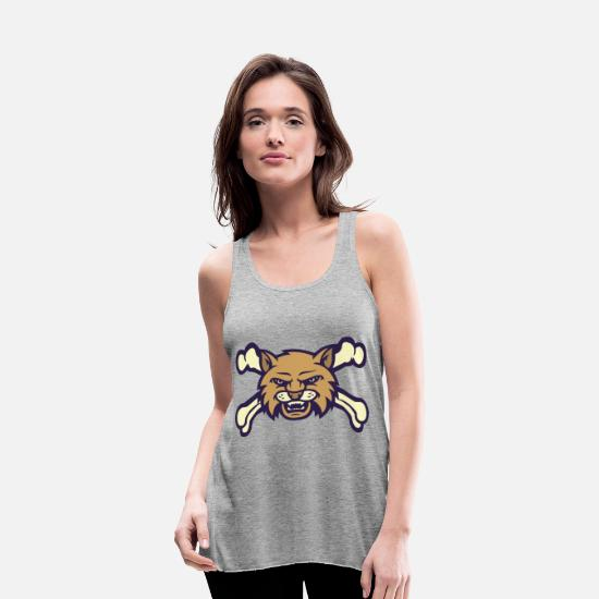 State Capital Tank Tops - Montana State - Women's Flowy Tank Top heather gray