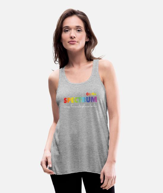 Adhd Tank Tops - On the Spectrum Neurodiversity Autism Awareness - Women's Flowy Tank Top heather gray