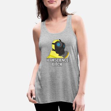Breaking Bad suit and gas mask with saying - Women's Flowy Tank Top