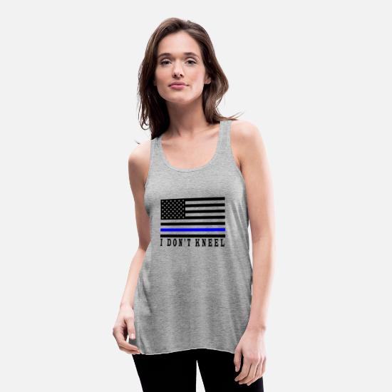 Usa Tank Tops - i Don't kneel - Women's Flowy Tank Top heather gray