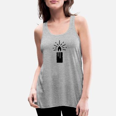 BURNING CANDLE LIGHT - Women's Flowy Tank Top