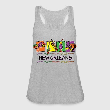 NEW-ORLEANS-SQUARES-eps - Women's Flowy Tank Top by Bella