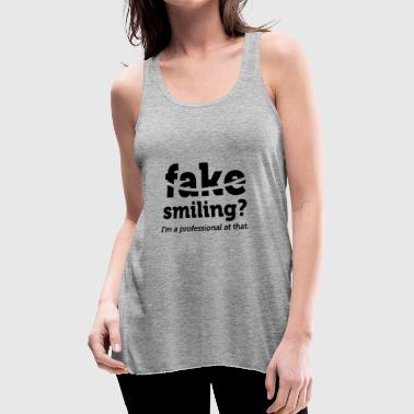 Synchronized Swimming Fake Smiling - Women's Flowy Tank Top by Bella