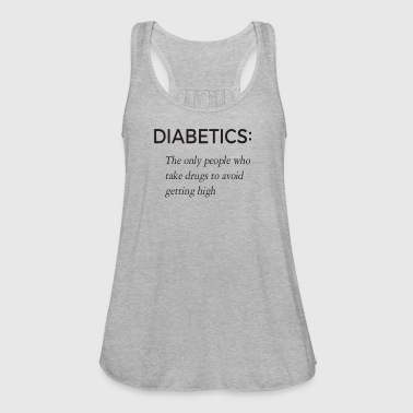 Funny Diabetic Gift Tee - Women's Flowy Tank Top by Bella