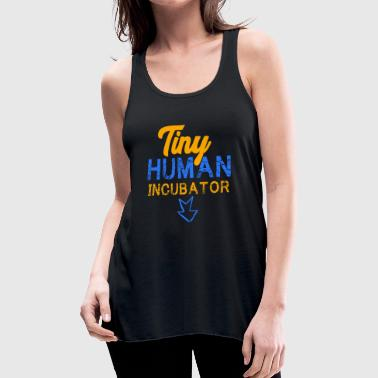 Pregnancy Tiny Human Incubator, Cute Pregnancy, Pregnancy Reveal - Women's Flowy Tank Top by Bella