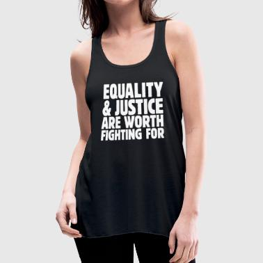 Equality & Justice white - Women's Flowy Tank Top by Bella