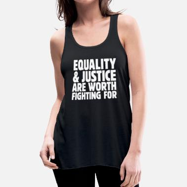 Social Equality & Justice white - Women's Flowy Tank Top by Bella